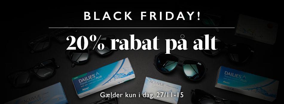 Black friday - 20% rabat på alt