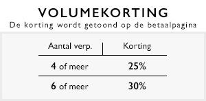 Volumekorting 25%, 30%