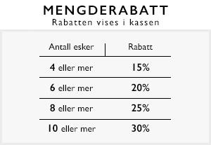 Mengderabatt 15%, 20%, 25%, 30%