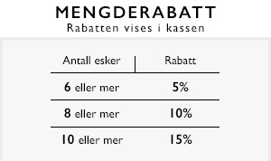 Mengderabatt 5%, 10%, 15%