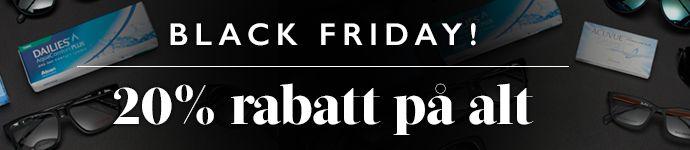 Het is Black Friday! 20% korting op alles