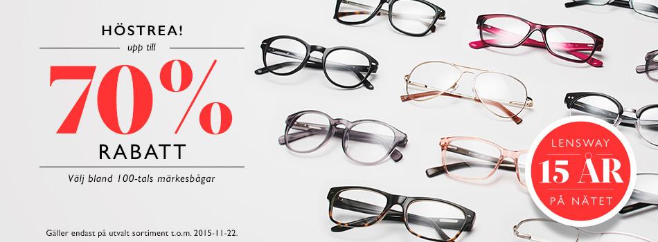 Höstrea! Upp till 70% rabatt på glasögon