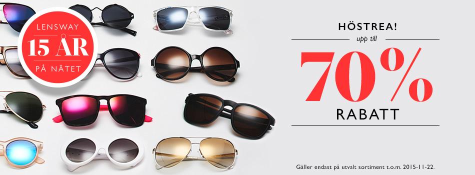 Höstrea! Upp till 70% rabatt på solglasögon