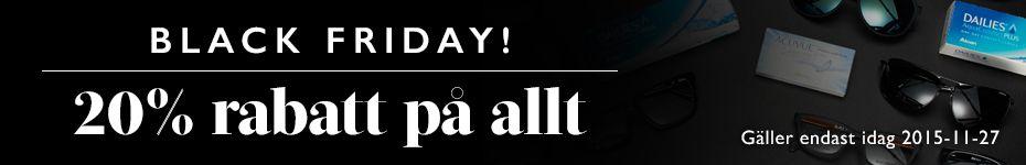 Black Friday är här! 20% rabatt på allt